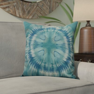 Dabria Shibori Burst Outdoor Throw Pillow Size: 20 H x 20 W, Color: Green