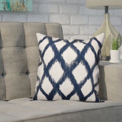 Worden Diamond Throw Pillow Color: Navy, Size: 18 x 18, Type: Pillow Cover