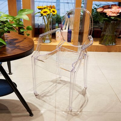 Hendrick Dining Chair Color: Clear
