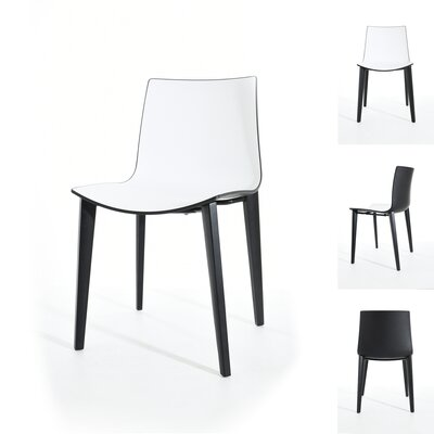 Sigman Dining Chair Color: Black/White