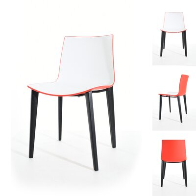 Sigman Dining Chair Color: Red/White