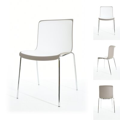 Sigmund Dining Chair Color: Gray/White/Chrome