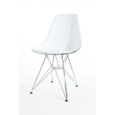 Harkey Dining Chair Color: White/Transparent Gray