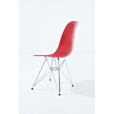 Harkey Dining Chair Color: White/Transparent Red