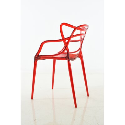 Gorsuch Dining Chair Color: Red