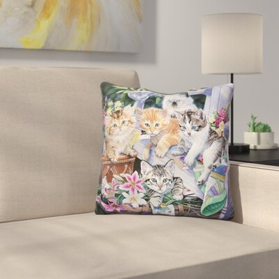 Perfect Gardening Buddies Throw Pillow