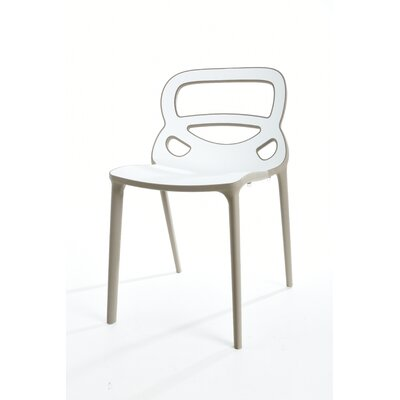 Franks Dining Chair Color: Gray/White