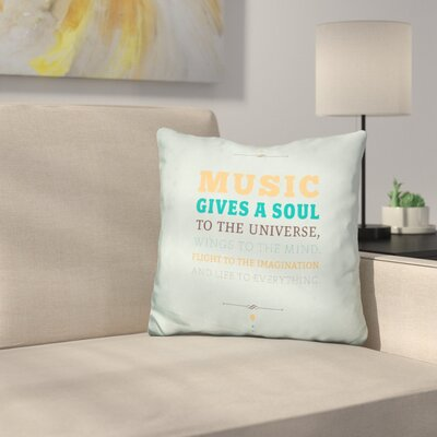 Sells Music Gives a Soul Throw Pillow
