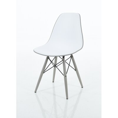 Christiansen Dining Chair Color: Light Gray/White