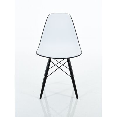 Christiansen Dining Chair Color: Black/White