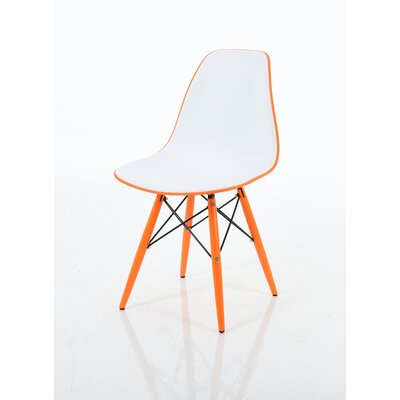 Christiansen Dining Chair Color: Light Orange/White