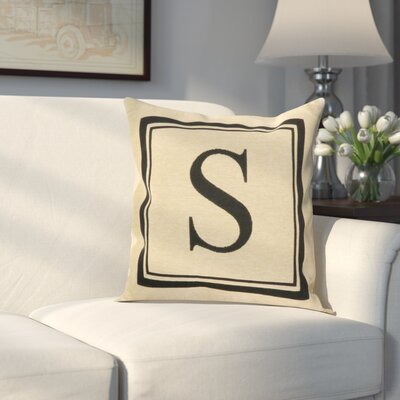 Beaver Creek Monogram Throw Pillow Letter: S