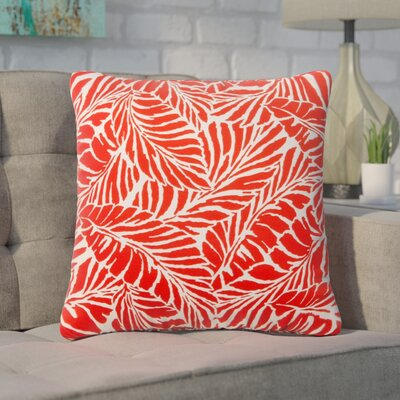 Pamella Floral Outdoor Throw Pillow Color: Red, Size: 20 H x 20 W