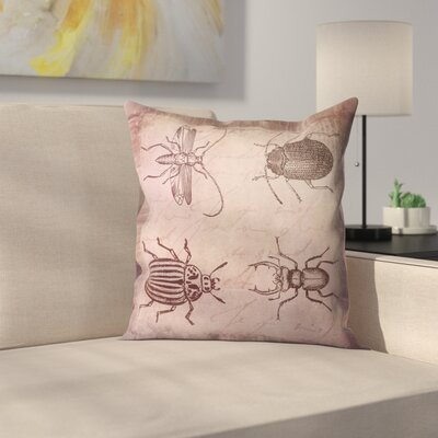 Vintage Animal Color 7 Throw Pillow Size: 16 x 16