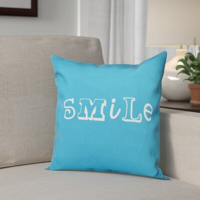 Scotland Happy Smile Throw Pillow Size: 16 H x 16 W, Color: Turquoise