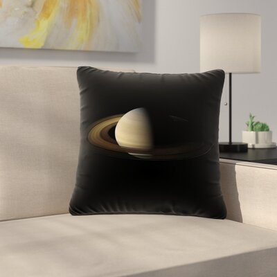Alias Saturn Digital Outdoor Throw Pillow Size: 18 H x 18 W x 5 D