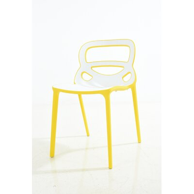 Franks Dining Chair Color: Yellow/White