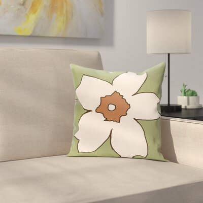 Silvas Floral Throw Pillow Size: 18 H x 18 W, Color: Edamame / Hu Poo