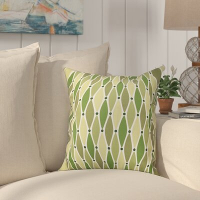Boubacar Wavy Outdoor Throw Pillow Size: 20 H x 20 W, Color: Green