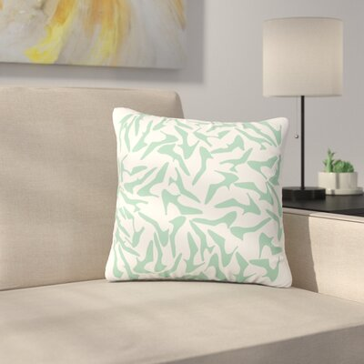 Shoe by Project M Outdoor Throw Pillow Color: Mint