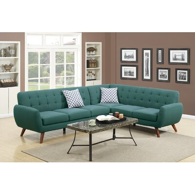 Cowart Reversible Sectional Upholstery: Laguna
