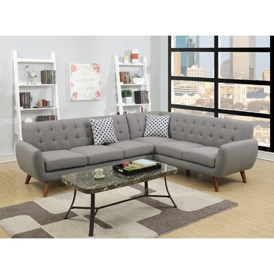 Cowart Reversible Sectional Upholstery: Gray
