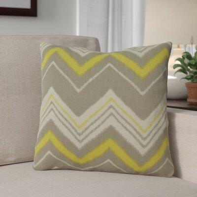 Carney 100% Cotton Throw Pillow Color: Green/Gray
