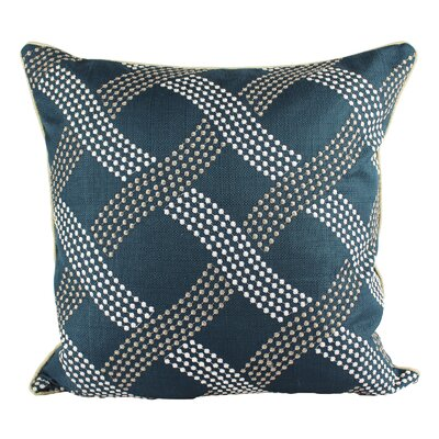 Fairclough Dotted Line Embroidery Indoor/Outdoor Throw Pillow