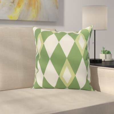 Meehan Geometric Print Indoor/Outdoor Throw Pillow Color: Green, Size: 20 x 20