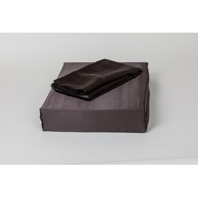 Dorey Silk Sheet Set Color: Charcoal, Size: Queen