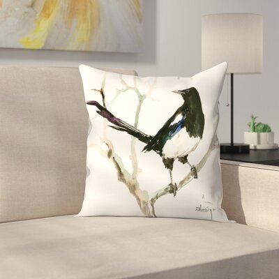 Suren Nersisyan Magpie 4 Throw Pillow Size: 18 x 18