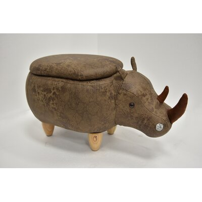 Hoefer Rhino Animal Storage Ottoman Upholstery: Chocolate Suede