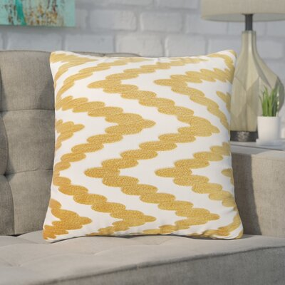 Hambrick 100% Cotton Throw Pillow Color: Gold