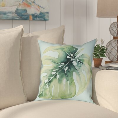 Elle Tropical Palm Tree Leaves I Outdoor Throw Pillow Size: 18 x 18