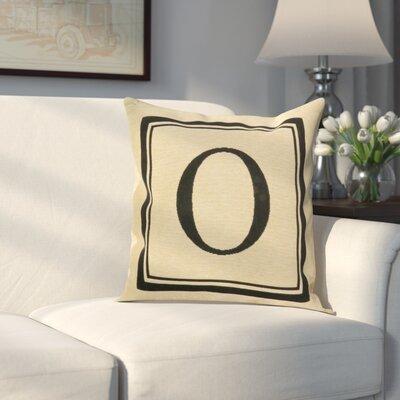 Beaver Creek Monogram Throw Pillow Letter: O