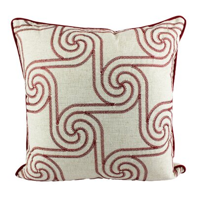 Eaddy Merry Christmas Embroidery Indoor/Outdoor Throw Pillow
