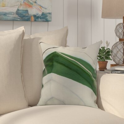 Harriet Boat Throw Pillow Color: Green, Size: 18 x 18