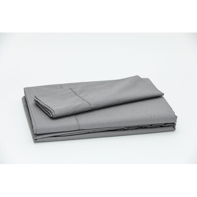 Eugene 250 Thread Count 100% Cotton Sheet Set Color: Dark Gray, Size: Double