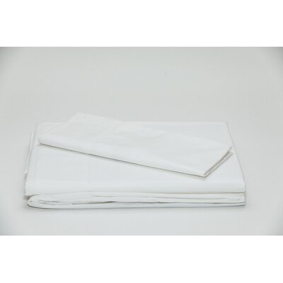 Eugene 250 Thread Count 100% Cotton Sheet Set Size: Twin, Color: White