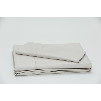 Eugene 250 Thread Count 100% Cotton Sheet Set Color: Stone, Size: Twin