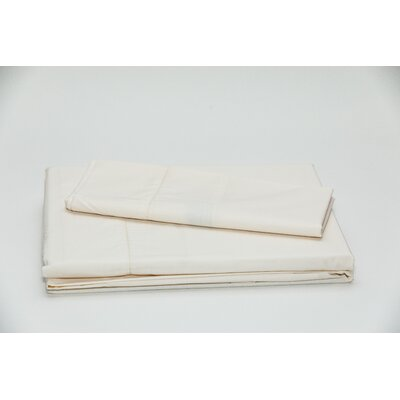 Eugene 250 Thread Count 100% Cotton Sheet Set Color: Cream, Size: Twin
