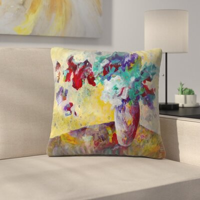 Sunshine Taylor Lemon Chiffon Light Indoor/Outdoor Throw Pillow Size: 16 x 16