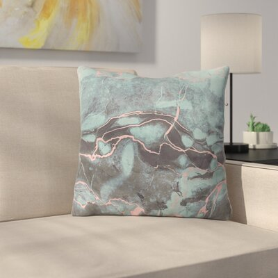 Emanuela Carratoni and Blush Marble Throw Pillow Size: 16 x 16