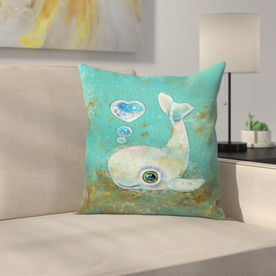 Michael Creese Baby Whale Throw Pillow Size: 14 x 14