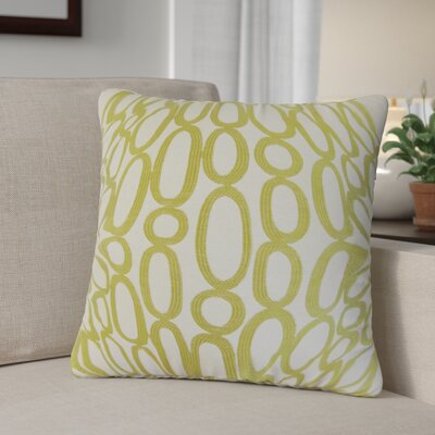 Penshire Geometric Throw Pillow Cover Color: Green