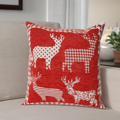 Santas Reindeer Throw Pillow