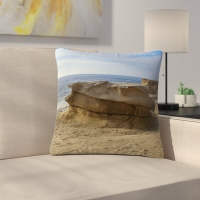 Nick Nareshni Rocks on the Beach Outdoor Throw Pillow Size: 16 H x 16 W x 5 D