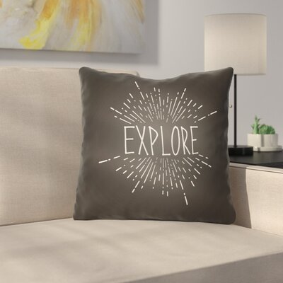 Marina Indoor/Outdoor Throw Pillow Size: 20 H x 20 W x 4 D, Color: Black