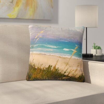 Carol Schiff Florida Beach Scene Coastal Outdoor Throw Pillow Size: 18 H x 18 W x 5 D