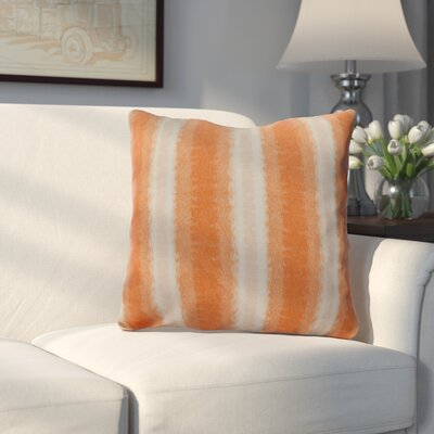 Wilkinsburg Sea Lines Indoor/Outdoor Throw Pillow Size: 18 H x 18 W, Color: Orange